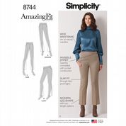 8744 Simplicity Pattern: Misses' Amazing Fit Trousers
